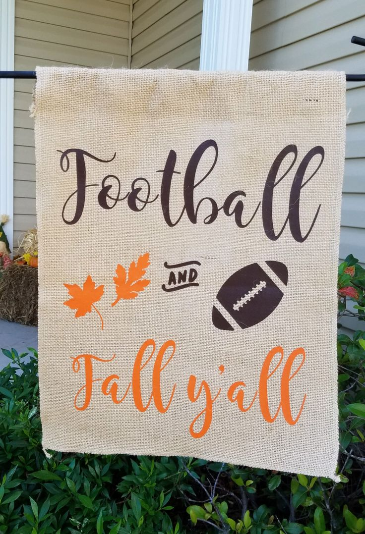 Fall garden flag, burlap garden flag, happy fall yall garden flag, garden flag, happy fall yall, burlap fall flag, garden decor, yard flag by SouthernAnchorShop on Etsy https://www.etsy.com/listing/466020430/fall-garden-flag-burlap-garden-flag