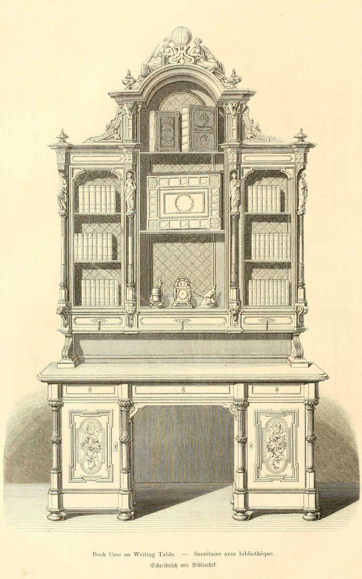 img/dessins meubles mobilier/secretaire avec bibliotheque.jpg