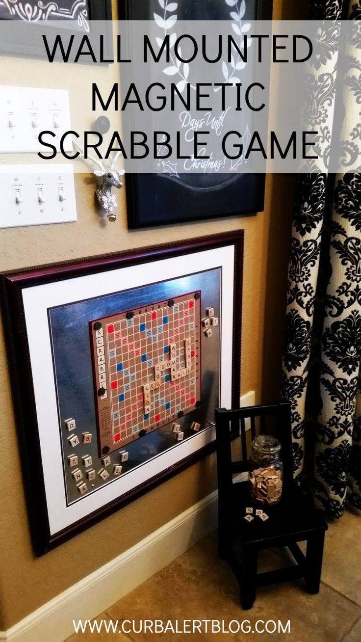 Curb Alert!: Words with Friends: Wall Mounted Magnetic Scrabble Game