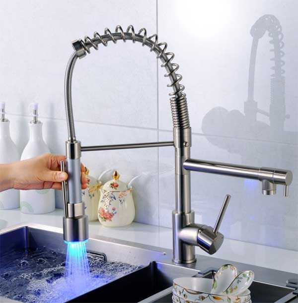 Pull Down Led Kitchen Faucet The Best Deal I Ve Found Kitchen