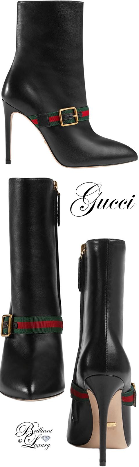 Brilliant Luxury ♦ Gucci Sylvie leather ankle boot