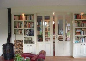 schuifdeuren met boekenkast. Marc Pfeiffer.