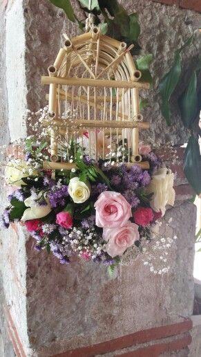 Jaula con flores. Oaxaca México