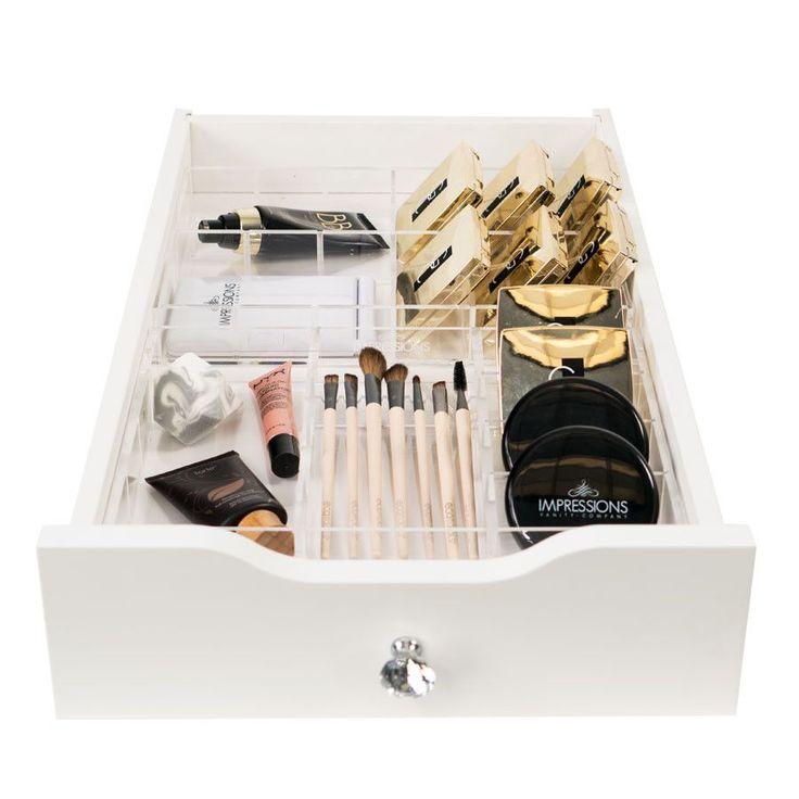 Alexa Two-Piece Acrylic Makeup Drawer Organizer Set B (Fits IKEA© Alex Drawers‰̣ۡå¢)