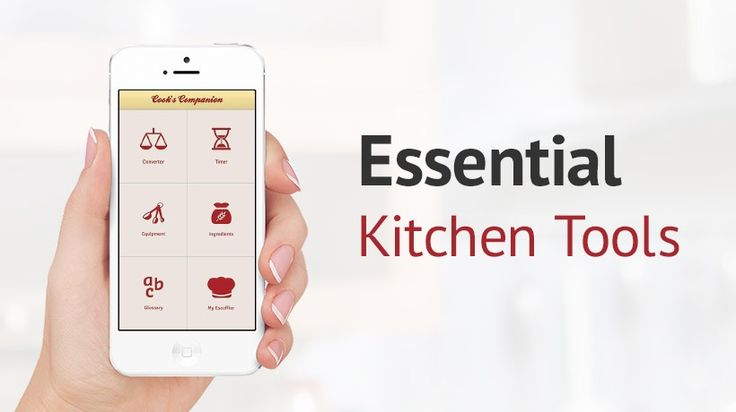 5 useful cooking apps for your iPhone. #kitchentools #kitchen #cooking #cookingtools #cookingapps
