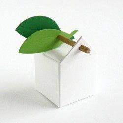 Die Dragee Box mit Holzstäbchen - La dragée design : boites à dragées - dragées - faire-part