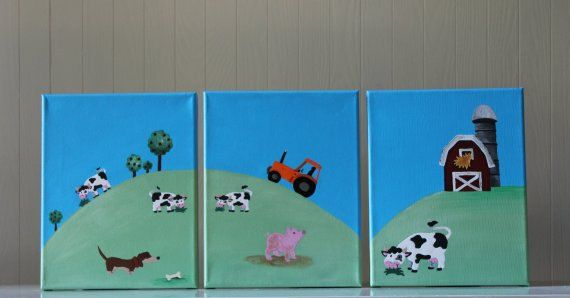 Farm nursery decor!!! Cute addition to any nursery :)