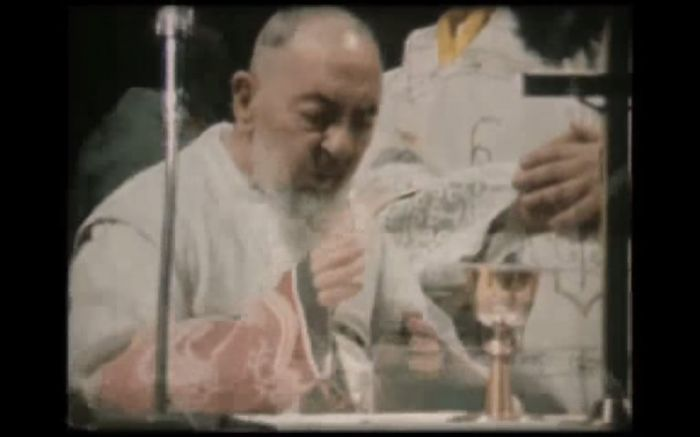 Padre Pio celebrating Mass 3 rare videos of Padre Pio