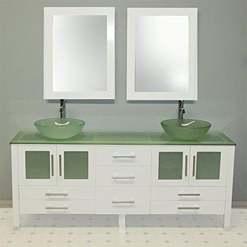 Pictures In Gallery Kitchen Cabinets Ideas Inch White Wood Tempered Glass Bathroom Vanity Set Montgomery Brushed Nickel