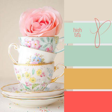 Hightea inspiration for web design, and image creation. For more inspiration and tips visit www.socialmediamamma.com Colour palette
