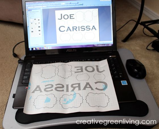 How to Get the Look of Vinyl Lettering without a Fancy Machine ~ Creative Green Living