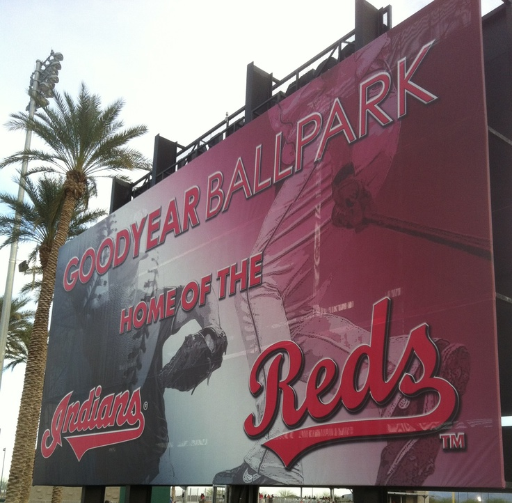 BASEBALL IS BACK!! Cincinnati Reds Spring Training game against The Indians..GO REDS!!