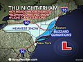 Blizzard to Reach From NYC to Boston Thursday Night
