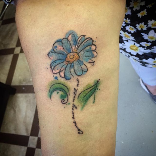 Watercolor Daisy Tattoo: 39 Best Daisy Flower Butterfly Tattoos Images On Pinterest