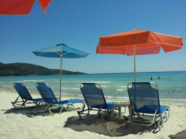 Παραλία Σκάλα Ποταμιάς (Skala Potamias Beach) στην πόλη Θάσος, Καβάλα
