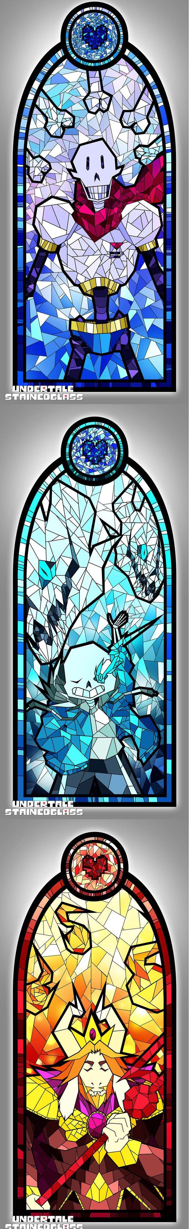 Undertale characters made in stained glass [Undertale, P1] - 9GAG