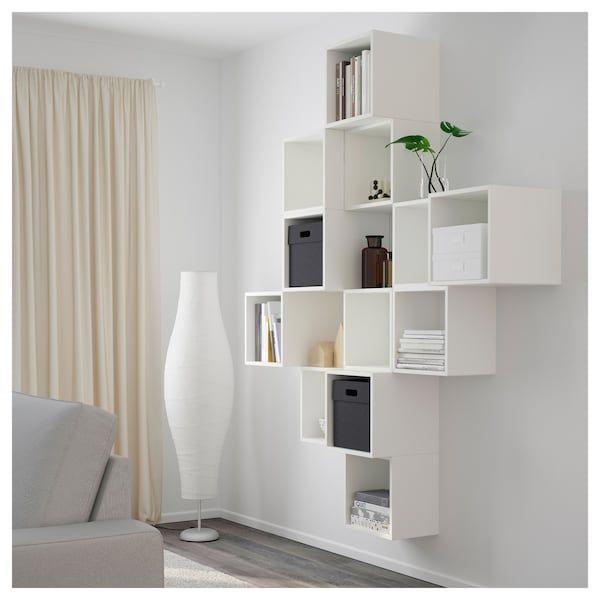 Eket Schrankkombination Fur Wandmontage Weiss Ikea Deutschland Wall Mounted Cabinet Eket Cube Furniture