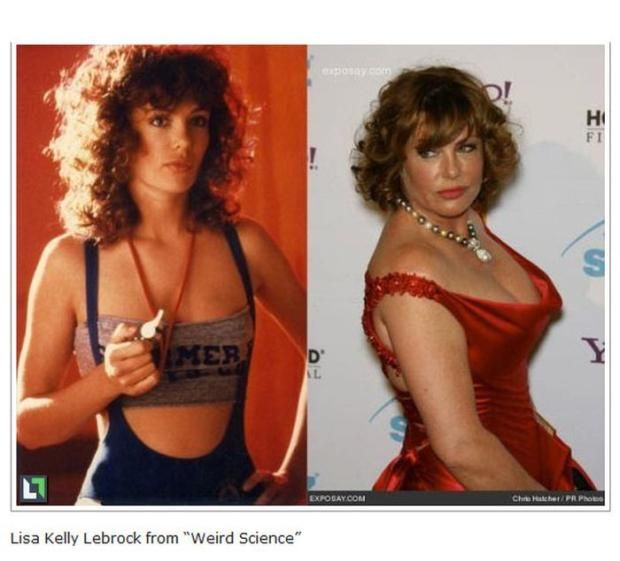"""Actress Kelly Labrock """"then & now.""""  Yes, she's the one who did the """"don't hate me because I'm beautiful"""" commercials. Karma??"""