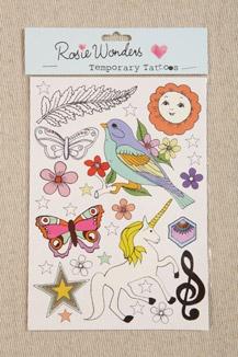 Rosie Wonders Unicorn Temporary Tattoos > > > www.urbanoutfitters.de