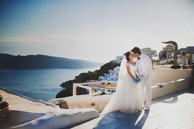 Photographer on Santorini — Веселые Свадебные Фотографы - Студия Posmishka