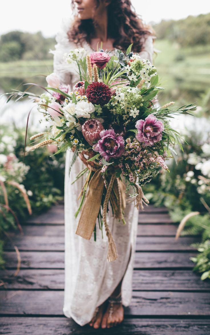 best wedding bouquets 2016 - wild boho bouquet