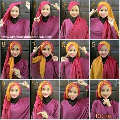 Tutorial Hijab Pashmina Yang Trendy