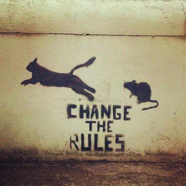 "#street_art: change the rules"" #anarchy"