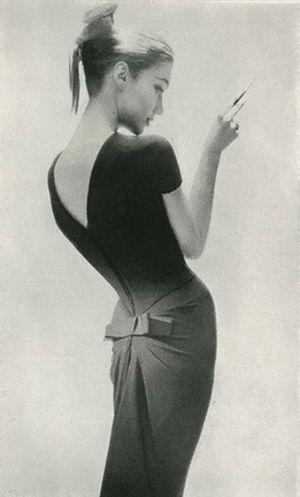 Photograph by Lillian Bassman for Harper's Bazaar, 1956 by SnoozMooz