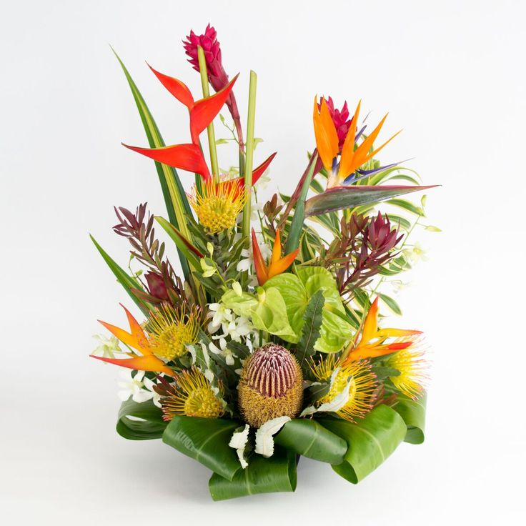 8 best Hawaiian Flower Assortments images on Pinterest | Gift basket ...
