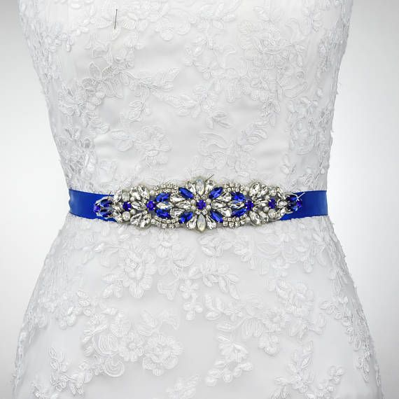 Royal Blue Belt Wedding Belt Wedding Sash Prom Dress Belt Etsy In 2020 Wedding Dress Belt Something Blue Bridal Diy Wedding Dress