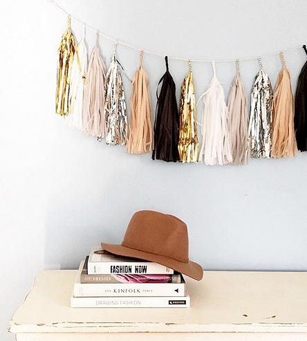 Neutral Tassel Garland | Add instant cheer to any party with one of these tassel garlan... | Wreaths & Garlands