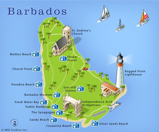 Best Barbados Images On Pinterest Barbados Bridgetown And - Barbados map