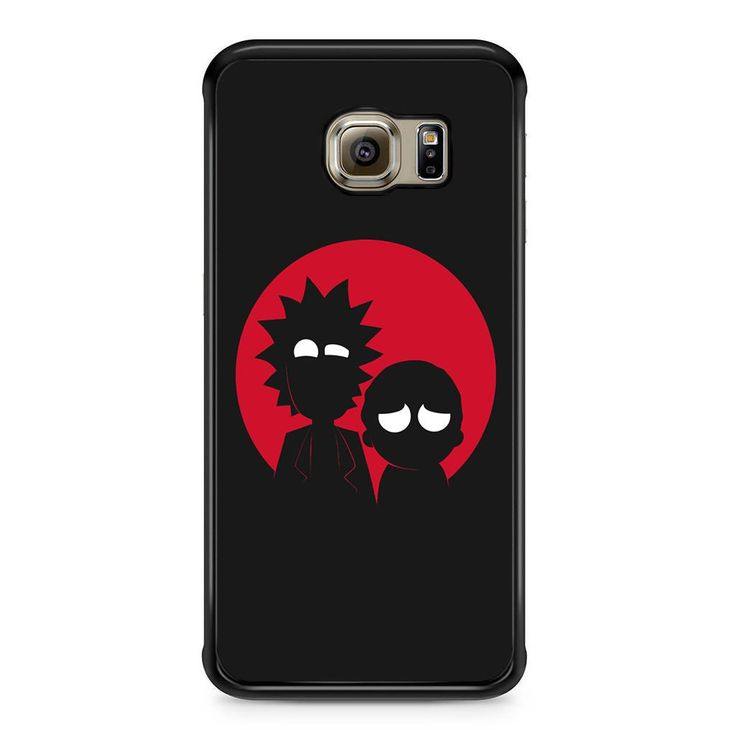 Morty And Rick Silhouette For Samsung Galaxy S6 Edge Case