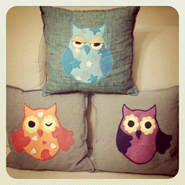 Baykuş Yastık Seti / Owl Pillow Team