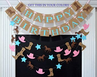 Horse Birthday Party Decorations Pony Garland Horse Garland