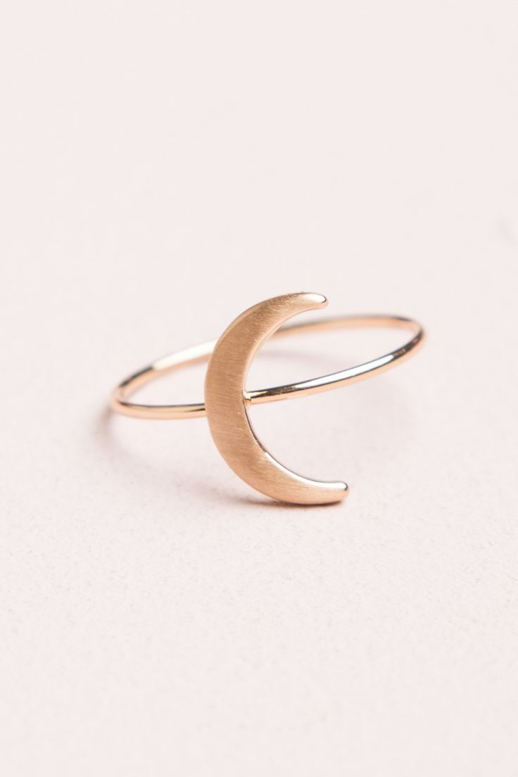 Brandy ♥ Melville | Gold Crescent Moon Ring - Jewelry - Accessories