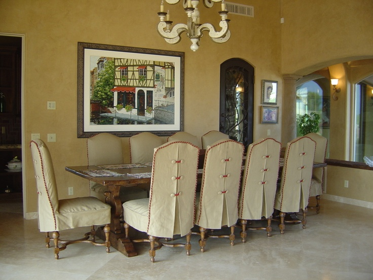 Beautiful Chairs...love The Back Detail And Pleat... Dining Chair  SlipcoversDining Room ...