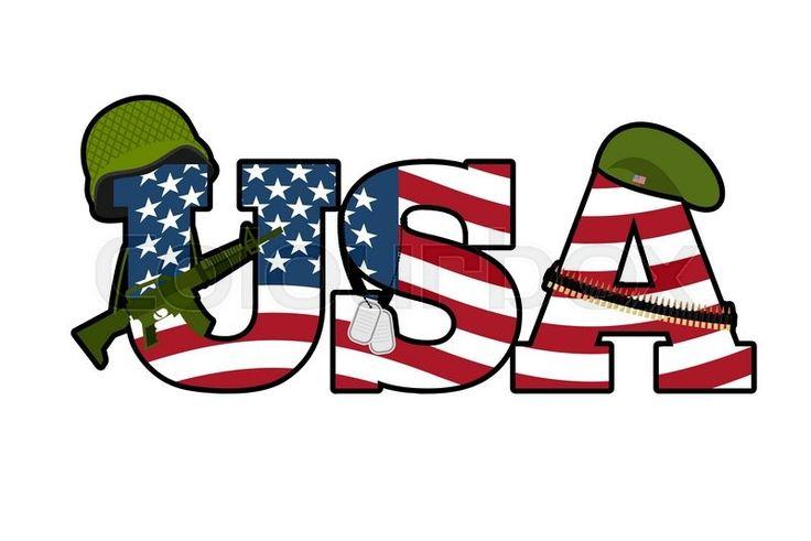 US Army symbol. Military Emblem Of America. American Flag ...