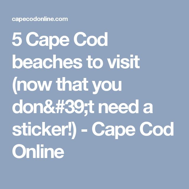 5 Cape Cod beaches to visit (now that you don't need a sticker!) - Cape Cod Online