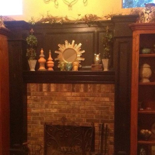 Painted And Distressed Fireplace Now Need Pinterest To