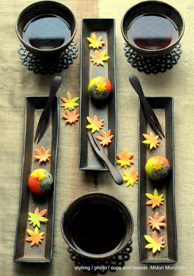 Japanese Sweets, Yama-Momiji (colorful leaves in #autumn). #food