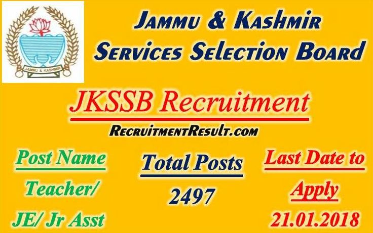 Latest vacancy notification related to JKSSB Recruitment has been advertised!!! There are total 2164 vacant positions of General Teacher, Science/Maths Teacher, Urdu Teacher and driver in the State's education department.