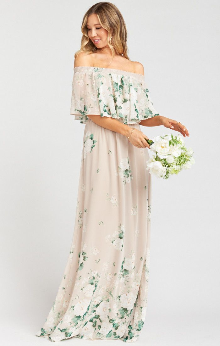 Hacienda Maxi Dress Bouquet Toss In 2020 Floral Bridesmaid Dresses Mumu Bridesmaid Dresses Wedding Guest Gowns,Empire Waist Plus Size Wedding Dresses With Sleeves