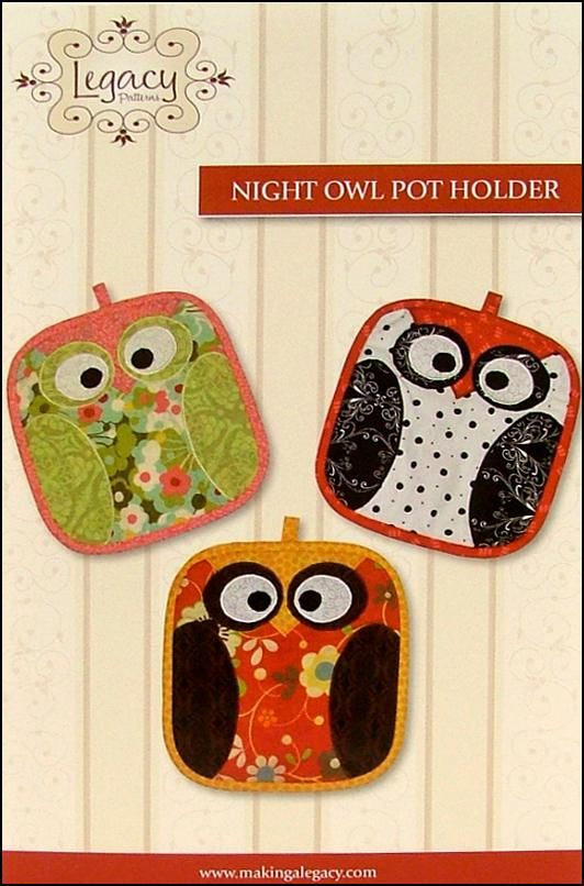 Legacy Night Owl Pot Holder Pattern