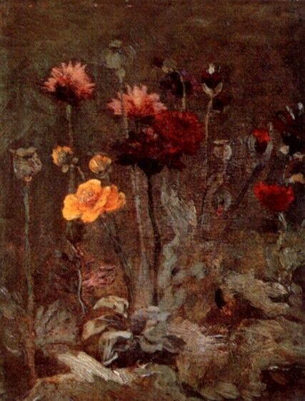 Still Life with Scabiosa and Ranunculus. Paris, Spring 1886,  Size 26 x 20cm