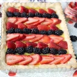 Striped Summer Fruit Tart recipe