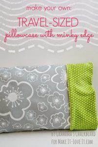 DIY Pillowcases - Travel Sized Pillowcase With Minky Edge - Easy Sewing Projects for Pillows - Bedroom and Home Decor Ideas - Sewing Patterns and Tutorials - No Sew Ideas - DIY Projects and Crafts for Women http://diyjoy.com/sewing-projects-diy-pillowcases