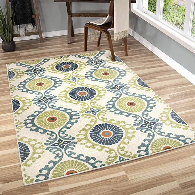 Amazon Com Orian Rugs Veranda Indoor Outdoor Kokand Kiwi Area Rug 7 8 X 10 10 Green Kitchen Dining Indoor Outdoor Area Rugs Orian Area Rugs