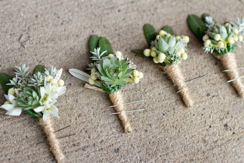 Succulent and fynbos boutonnieres