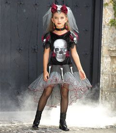 skeletina girls costume - Only at Chasing Fireflies - Just because you're into skeletons doesn't mean you can't be screamin' stylish, right?